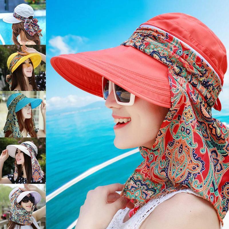 Women Sports Tennis Sun Visor Embroidered Cave Wide-brimmed Summer Watertight Hat