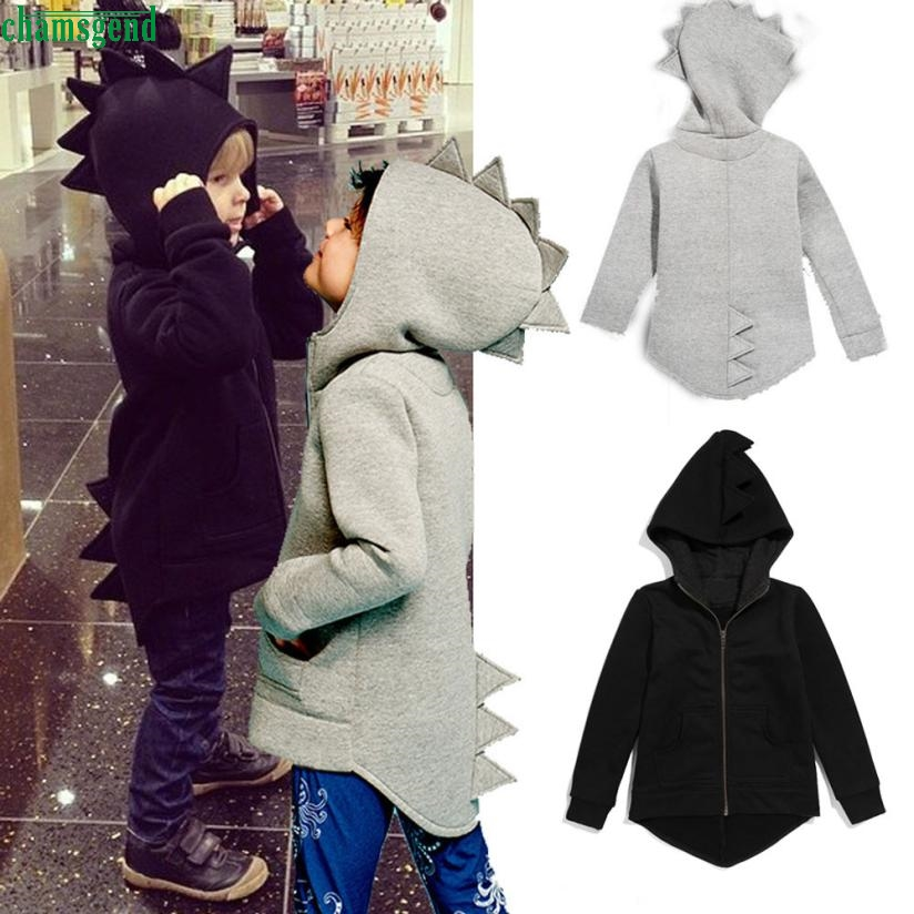 CHAMSGEND Baby Coat Dinosaur Toddler Boys Children Jacket Outerwear Hooded Kid Cute