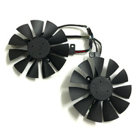 Computer VGA Gpu Cooler ROG STRIX RX470 RX460 Graphics Card Fan For ASUS ROG STRIX RX470