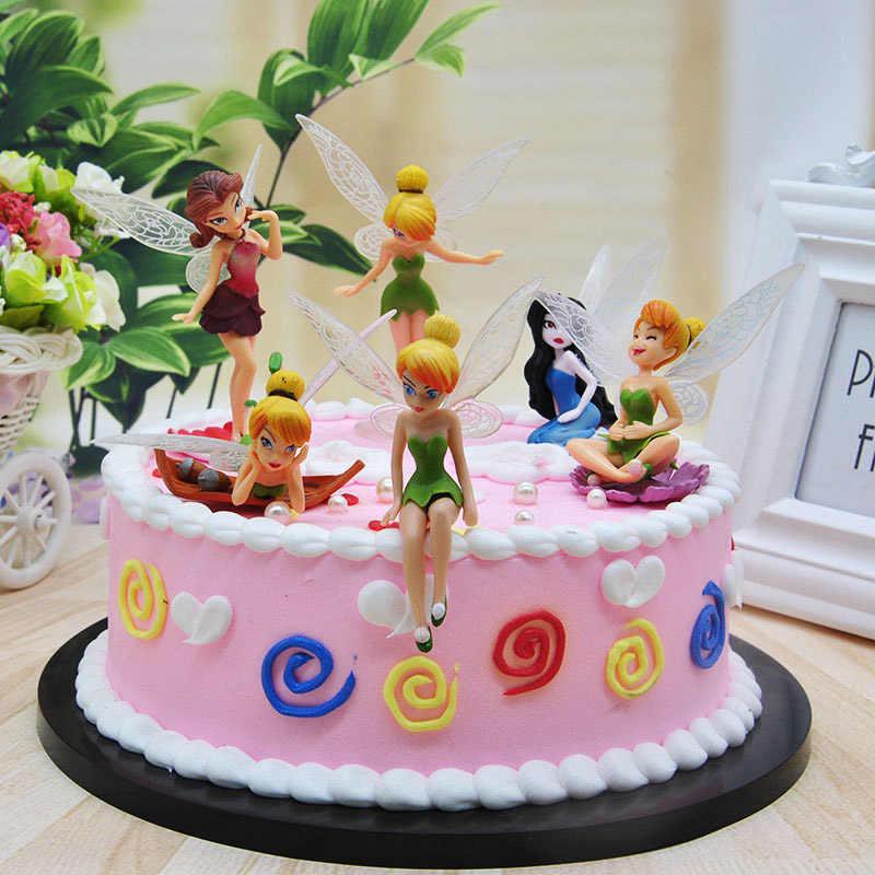 Lucu Putri Peri Pvc Aksi Angka Putri Nona Bell Puncak Kue Untuk Anak Anak Hiasan Kue Ulang Tahun