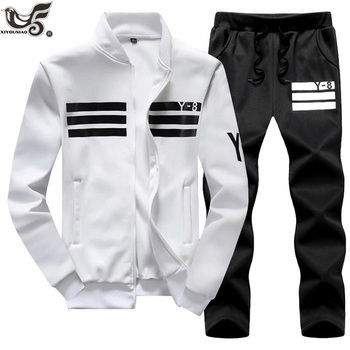 XIYOUNIAO plus size M~7XL8XL9XL New Men's Sporting Suit Male Tracksuit Men Spring Autumn Casual Sportswear set 2PC Jacket+Pants