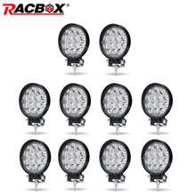 10 Pcs 4 Inch 42 48W Offroad Led Verlichting Spotlight Flood Spot Beam Drive Lamp Voor Jeep Uaz 4X4 Auto 4WD Boot Suv Atv Motorfiets