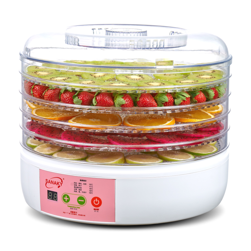Household automatically timed intelligent fruit vegetable meat food dehydration air-dried machine household fruits vegetables herbs and pet snacks automatic timed mini dehydration air dried machine 4 floors