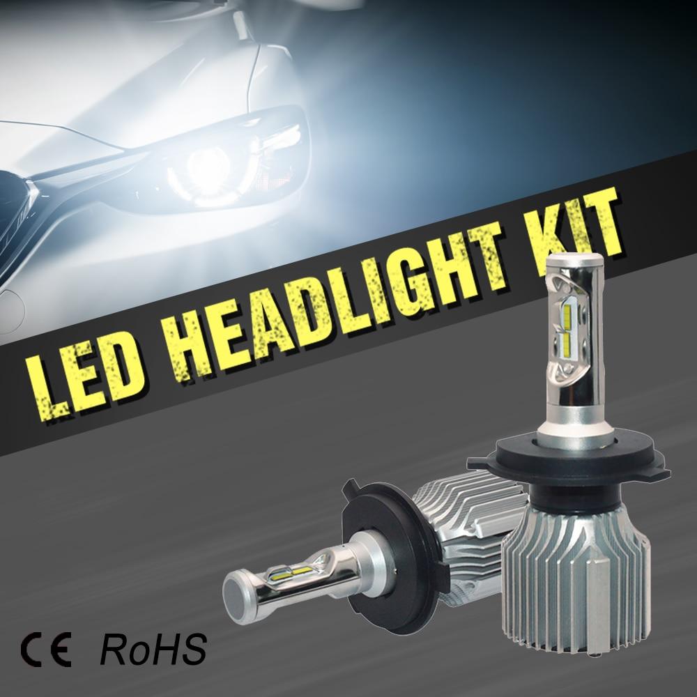 Katur H4 H13 H15 9004 9007 Led Headlight Kit Hi Lo Beam H1 H3 H7 H11 9012 9005 9006 H27 880 881 P13W 5202 H16 PSX24W PSX26W 12v led light auto headlamp h1 h3 h7 9005 9004 9007 h4 h15 car led headlight bulb 30w high single dual beam white light