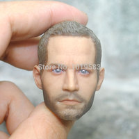 Brand New Very Cool 1/6 Scale Furious 7 Brian O'Conner Head Sculpt For Action Figure Model Accessories/Collection/Gift