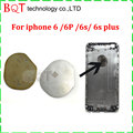 For Apple Iphone 6s plus 6s 6G 6G plus Housing Back Cover for Apple Logo Sticker Metal Repair Parts