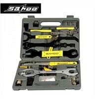 Sahoo Универсальный велосипед Велосипедный Спорт Repair Tool Set 44 Запчасти ремонт инструмента набор комплект Дело Box Многофункциональный горная до