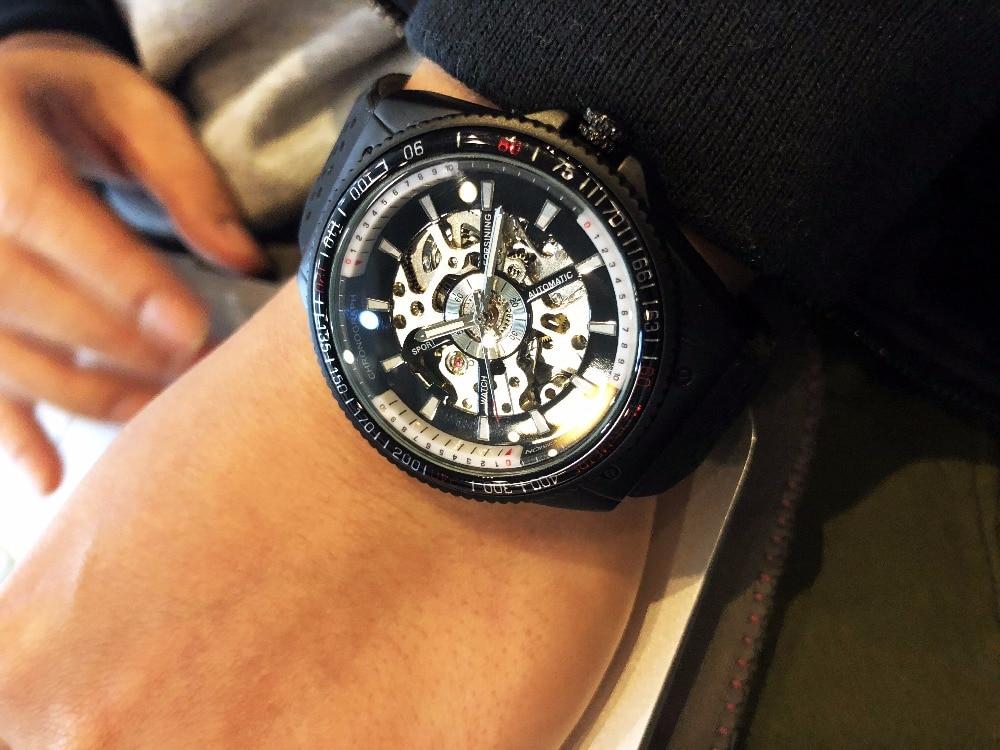 HTB1wItRh3vD8KJjy0Flq6ygBFXaG Forsining 2016 Rotating Bezel Sport Design Silicone Band Men Watches Top Brand Luxury Automatic Black Fashion Casual Watch Clock