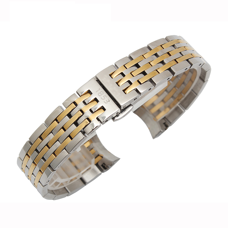 19mm Stainless Steel Bracelet  High Quality Watchbands  For  1853 T41 Le Locle Straps Free Shipping