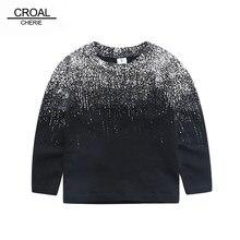 70-120 cm Cotone di Modo Chidren T-Shirt Felpa A Manica Lunga Freddo Del  Bambino Ragazzi Felpa Con Cappuccio Nero Pringting Bamb. a3c4dc22880d