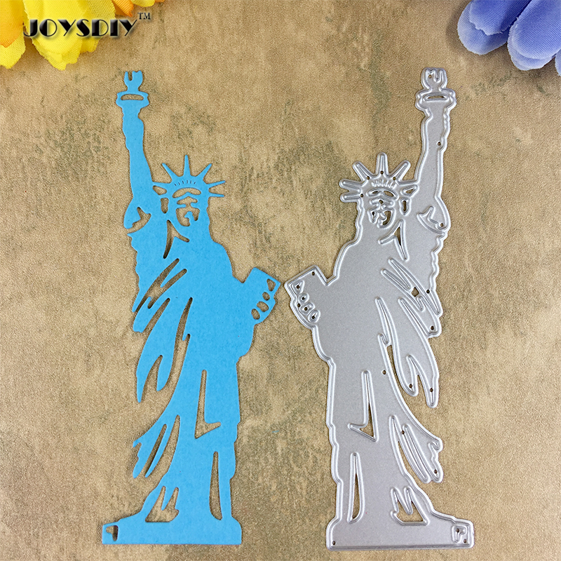 3 Piece Black Statue of Liberty Die Cut Embellishments Cards Crafts Scrapbook