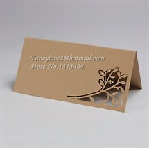 50pcs Flower Table Cards Laser Cutting Place Name Cards Party Table Cards Invitation Card Wedding Event Decoration Supplies