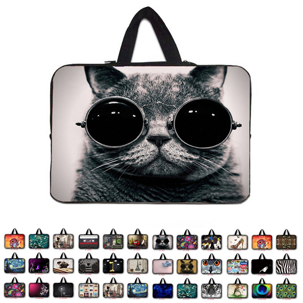15 15.4 15.5 15.6 Cat Van Gogh Waterproof Laptop sleeve Bag Notebook Cases For Macbook Hp Lenovo Acer Asus Computer bag
