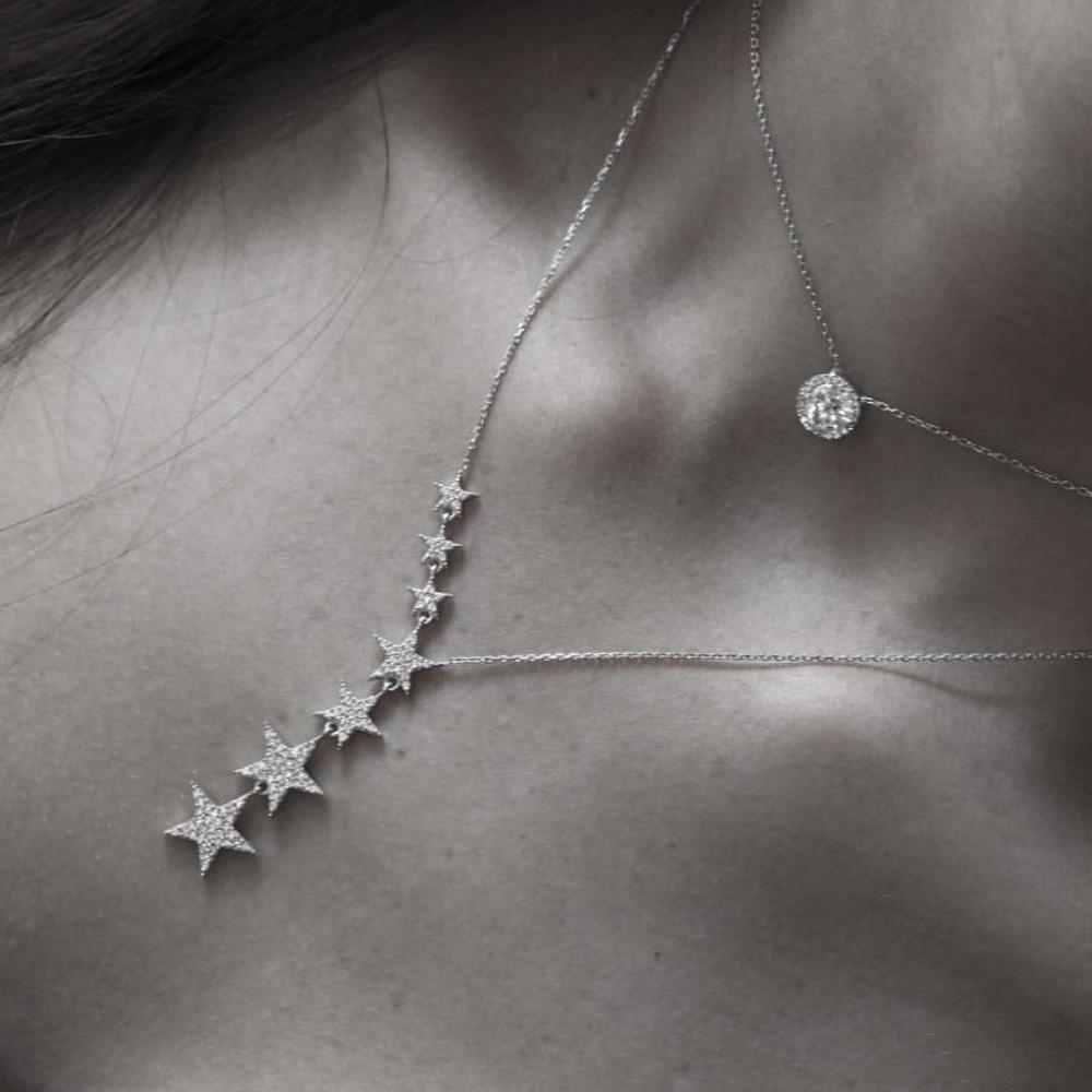 2eb982d52d8a 2016 nuevo envío de la gota 925 collares de Plata esterlina Zircon alas de  Ángel de