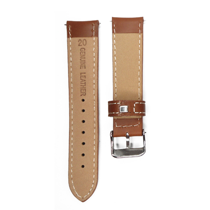 9d768403c0b Watch Strap 20mm Vintage Style Watch Band Light Brown Italy Oil Genuine  Leather Watchband Strap For Hour Belt For Watches-in Watchbands from Watches  on ...