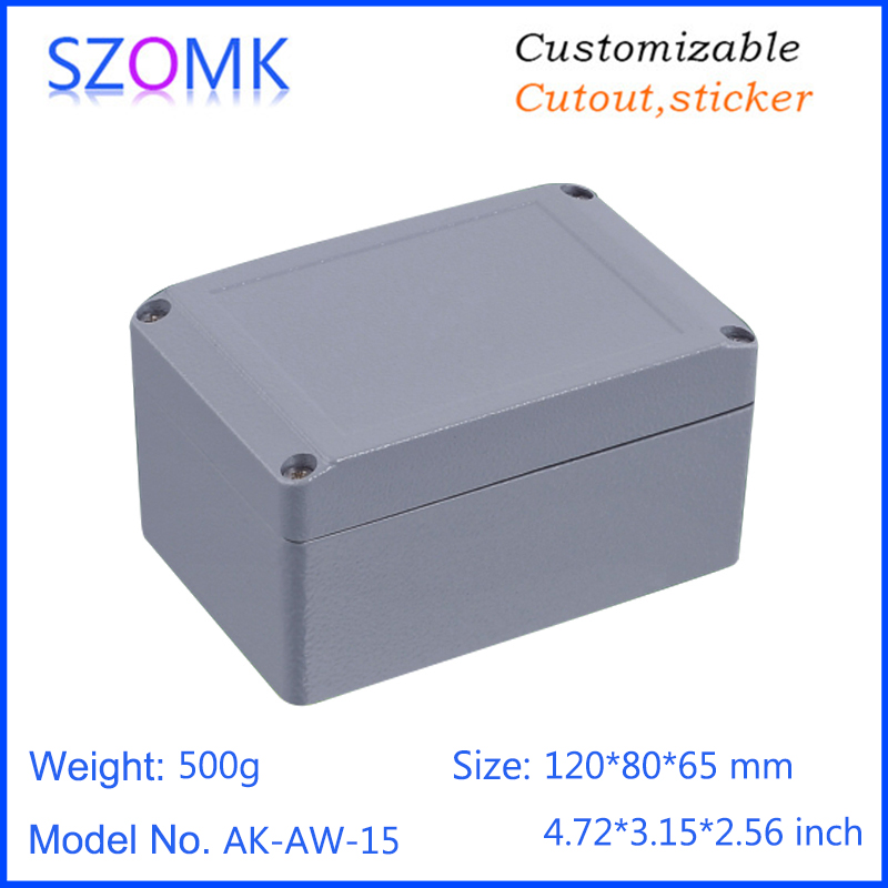 1 piece, 120*80*65mm aluminum die cast project box enclosure case szomk aluminum waterproof enclosure junction housing 65 95 55mm waterproof case