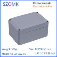 1 unidades, 120*80*65mm de aluminio die cast caja szomk caja de caja del proyecto de aluminio caja de conexiones a prueba de agua de vivienda