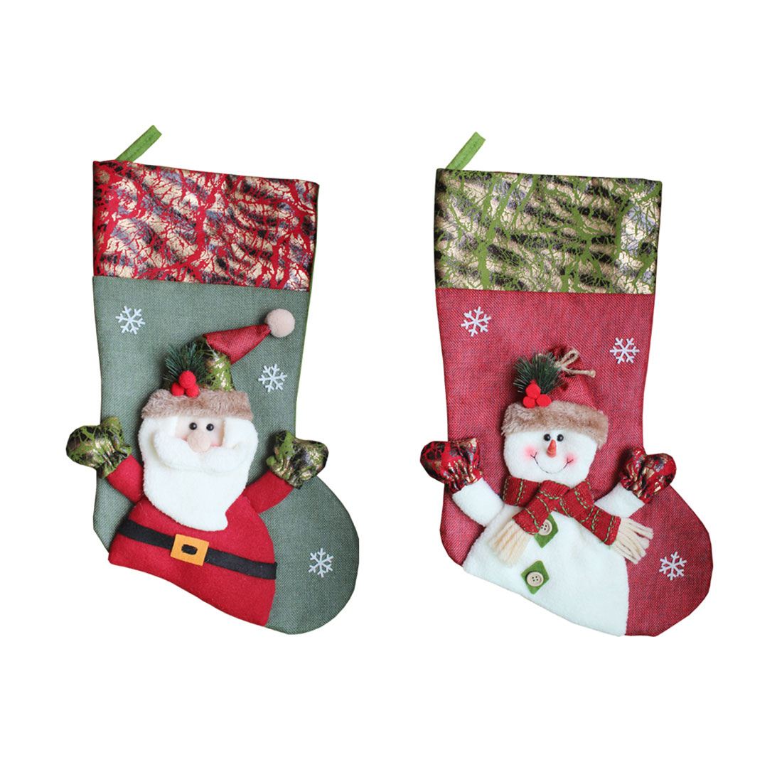 Christmas Candy Gift bags for childrens Christmas Pendant Gift Old man snowman Decorative Socks Christmas Ornament Packs