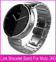 Noir Argent 22mm Lien Bracelet En Acier Bracelets Pour Moto 360 Bande pour Motorola Moto 360 Smart Watch + Outils + Bielle