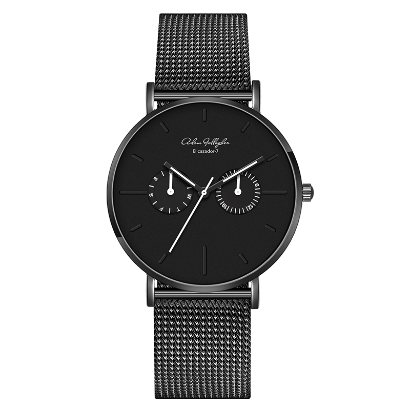 Quartz Watch Men S Luxury High Quality Waterproof Japanese Movement Watch Leather Strap Mesh Belt