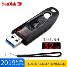Флеш-накопители SanDisk 16 ГБ 32 ГБ 64 Гб 128 ГБ 256 ГБ флешка, переносной usb-накопитель memoria USB 3,0 ULTRA Flash Drive USB Key U Disk для ПК