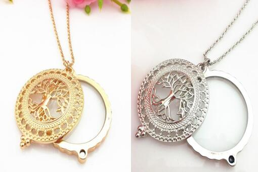 Factory direct wholesale brand new design gold silver lucky tree factory direct wholesale brand new design gold silver lucky tree monocle magnifier magnifying glass pendant necklace diy sewing in sewing tools accessory mozeypictures Images