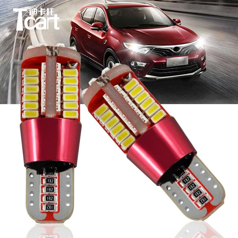 Tcart 2шт /лот canbus для Неполярных 9-30В Лампа T10 194 W5W из светодиодов авто задний фонарь для Мицубиси Паджеро лицензии огни пластины