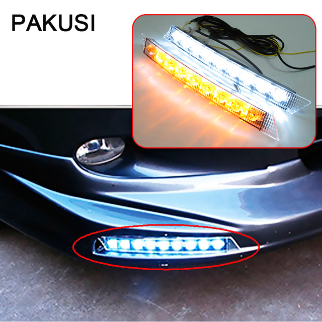 PAKUSI 1Pair Car LED Daytime Running Lights 12V For Audi A6 A4 B6 A3 ...