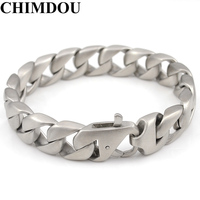 Fashion Pu Chain Leather Bracelet For Mens With Mangent Clasp AB542