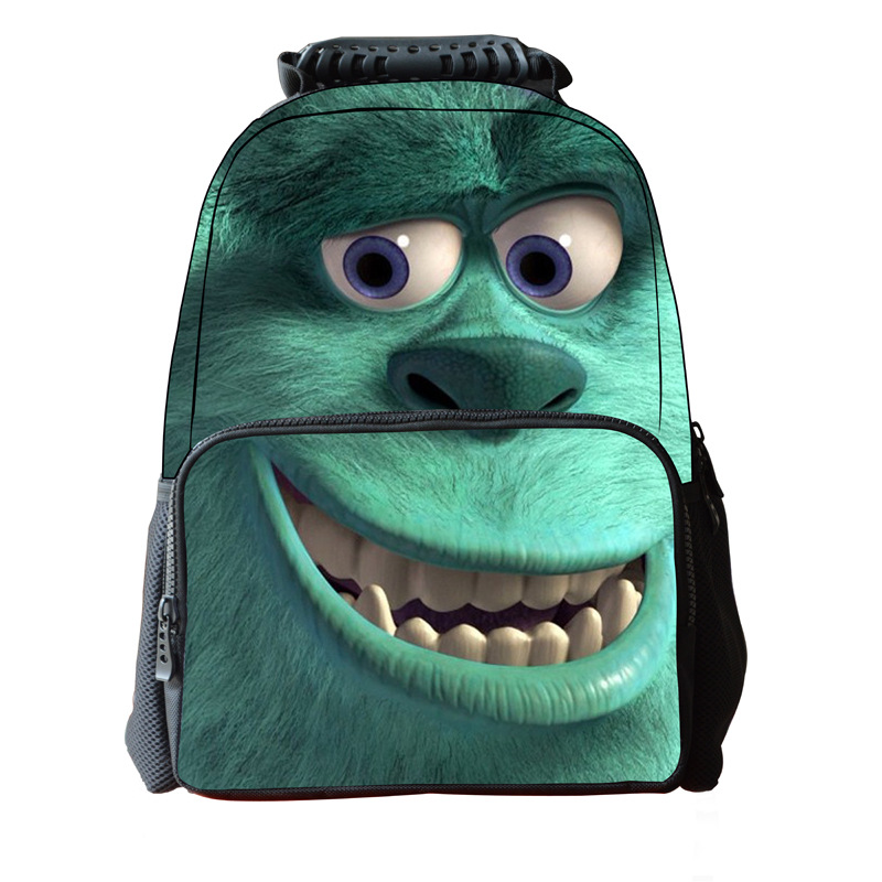 16 Inch 3D Animal Children School Bag Monsters University Printing Mens Travel Backbag School Bags For Teenager Boys Girls