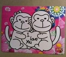 Free shipping 1100pcs/lot, Sand art sticker card for children's sand paint