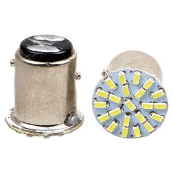 WTS wholesale 200PCS Car 1157 LED BAY15D 3014 Chip 22SMD Auto LED  signal lamp Brake Lights White tail stop led bulb red DC12V