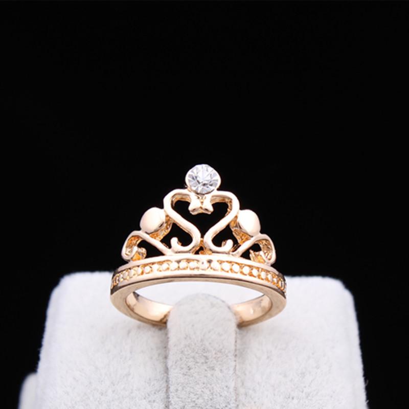 al por mayor nuevo color de oro de joyera diseo nico de corea del rhinestone anillo