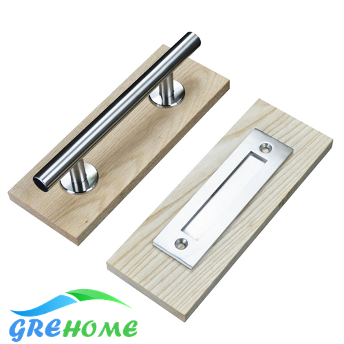 Stainless Steel and Black carbon steel Sliding Barn Door Handle Wood door handle barn door pull Hardware Accessories ka 14 00011 cute smily beech handle stainless steel fork wood color silver