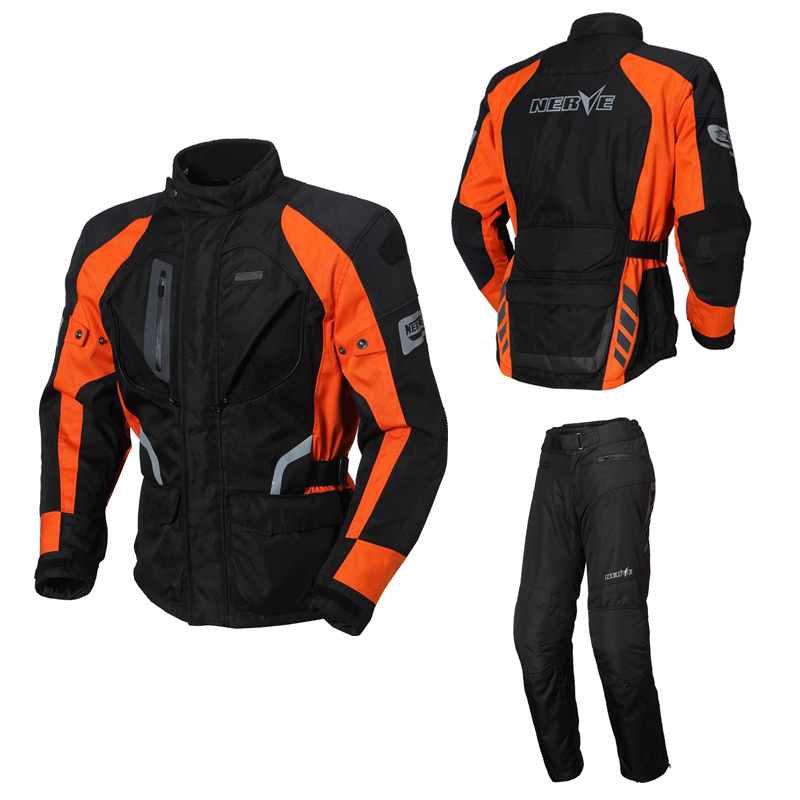 Nerve brand motorcycle jacket high quality Germany men outdoor riding motorbiket suit Jacket pants motorcross sets protector CE  brand nerve motorcycle riding breathable raincoat and pants for men and women free shipping summer waterproof suit rain coat