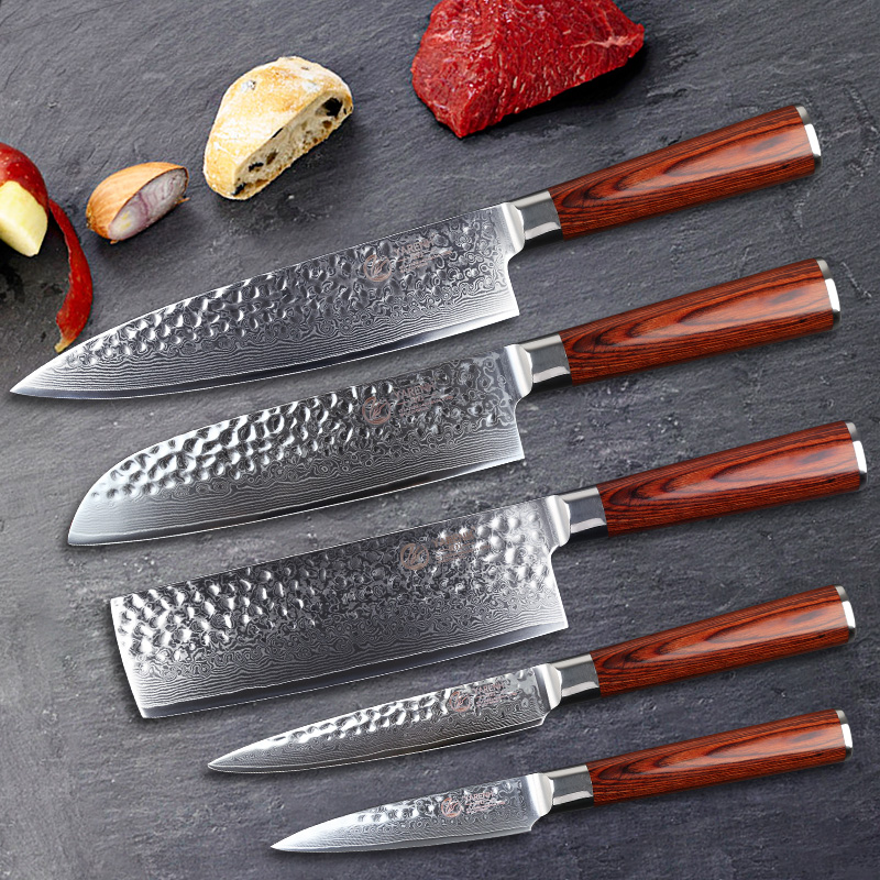 Forged Damascus Knife Sets