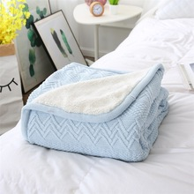 Winter Adult Comfortable Soft Knit Blanket Women Men Solid Seasons Cotton Home Sleep Blankets Sweet Thick Warm Blanket 120*180cm blanket eponj home blanket