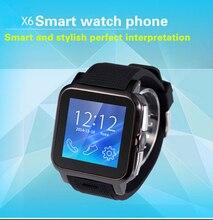 ใหม่กีฬานาฬิกาสมาร์ทX6สำหรับip hone A Ndroidบลูทูธสมาร์ทนาฬิกาข้อมือที่มีช่องเสียบซิมกล้องป้องกันการสูญหายFreeshipping
