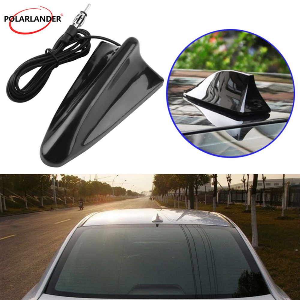 FOR A/udi FOR S/koda Black Car Styling Shark Fin Antenna For B/MW Decorative Radio Signal Aerial for T/oyota FOR V/W FOR H/onda