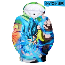 Dragon Ball Hoodie Super Broly Movie Hooded Jacket Costume Printed Hoodie Men Women Anime Clothes 3D Clothing Harajuku Kid Size