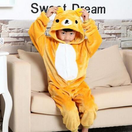 New 2017  Pikachu Stitch Panda Unisex Kids Child Cosplay Costume Pajamas Animal Onesie Home Sleepwear