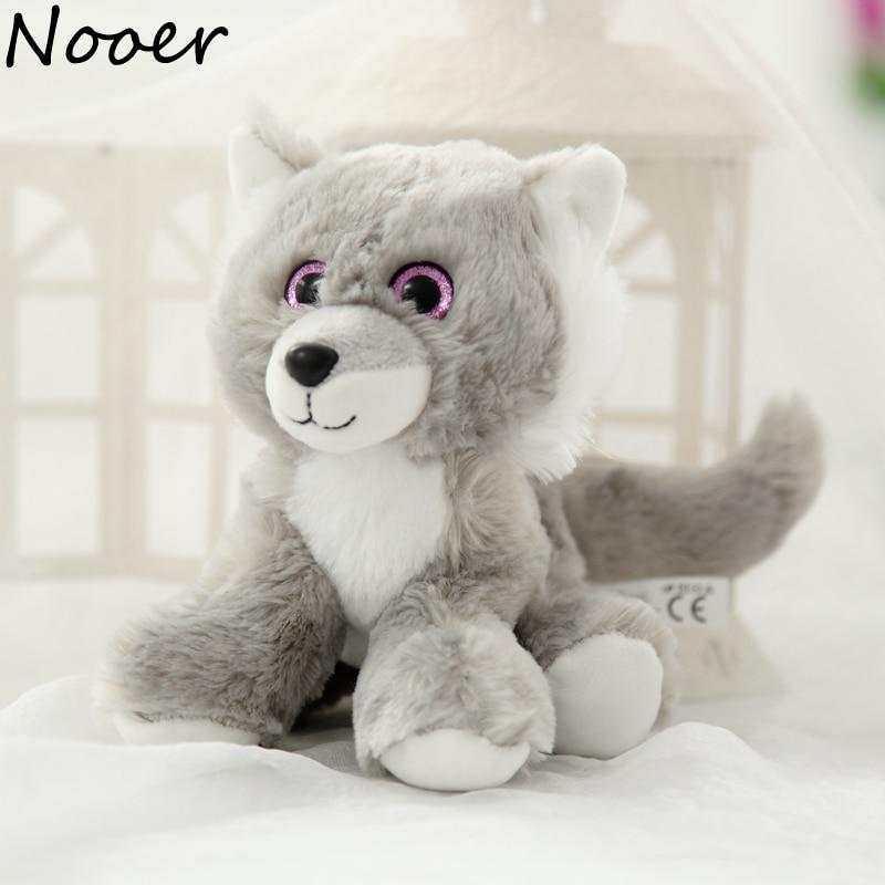 Nooer 18cm Lovely Wolf Plush Toy Husky Dog Animal Stuffed Plush Wolves Doll Kids Toy Birthday Gift Cheap Price Wholesale