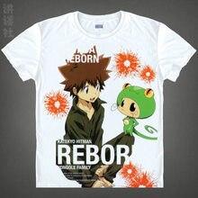 Tutor Hitman Reborn camiseta trajes de Cosplay hombres / mujeres famoso Anime japonés camiseta