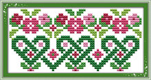 Pink flowers cross stitch kit mini small picture painting set 14ct 11ct count white canvas embroidery DIY handmade needlework(China)