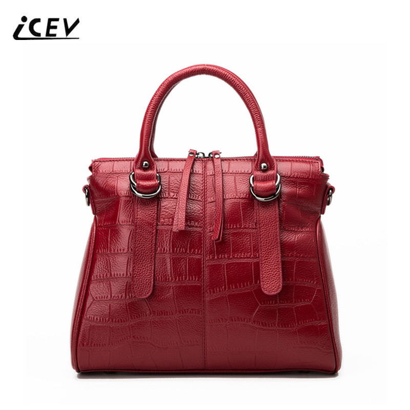 ICEV New Fashion Europe Style Genuine Leather Handbags Alligator Women Leather Handbags Bags Handbags Women Famous Brands Bolsa icev new fashion europe style genuine leather handbags alligator women leather handbags bags handbags women famous brands bolsa
