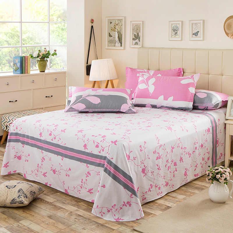100% хлопок красота Цветочный плоский лист для одной двойной кровати детей взрослых спальни использовать простынь (без наволочки) XF638-13