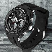Watches Men Luxury Brand SANDA Led Sport Military Men's Wristwatch 50M Waterproof Analog Quartz Casual Watch Relogio Masculino
