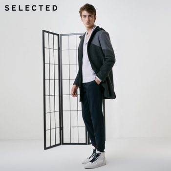 SELECTED thought male containing wool in winter long cloth coat S | 418427563