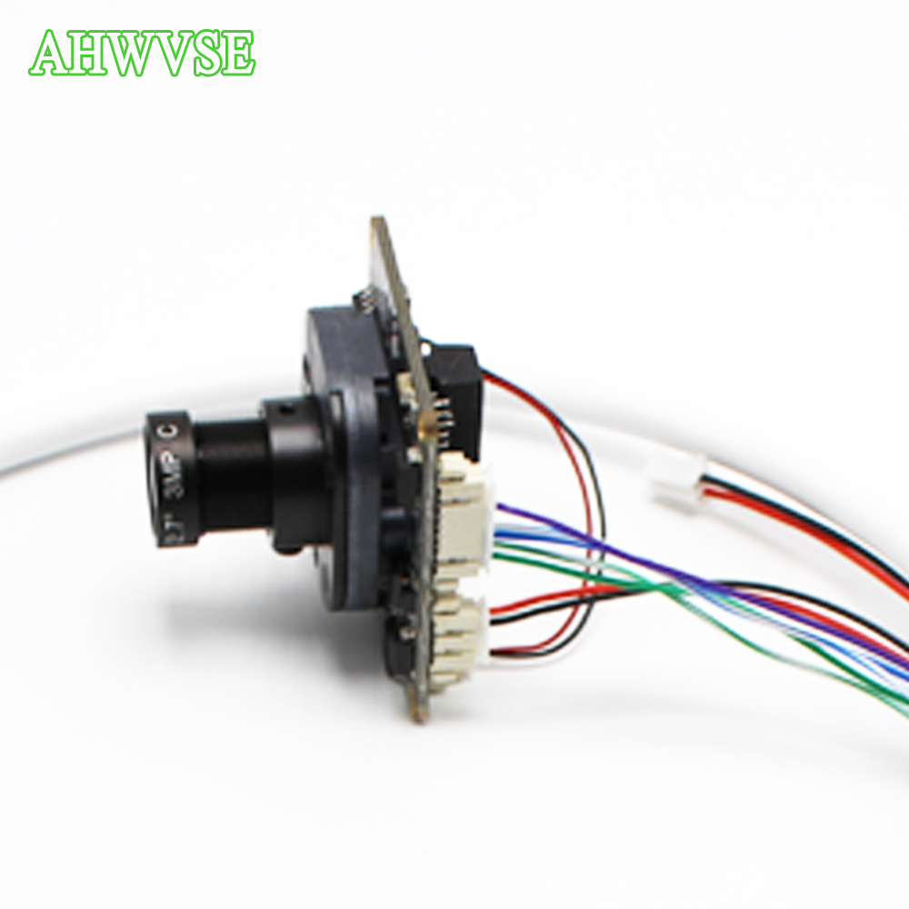 AHWVSE IP Camera HD 720P 960P 1080P 2.8mm wide view 8mm LENS RJ45 Cable Security Camera CCTV IRCUT Board ONVIF Camera IP