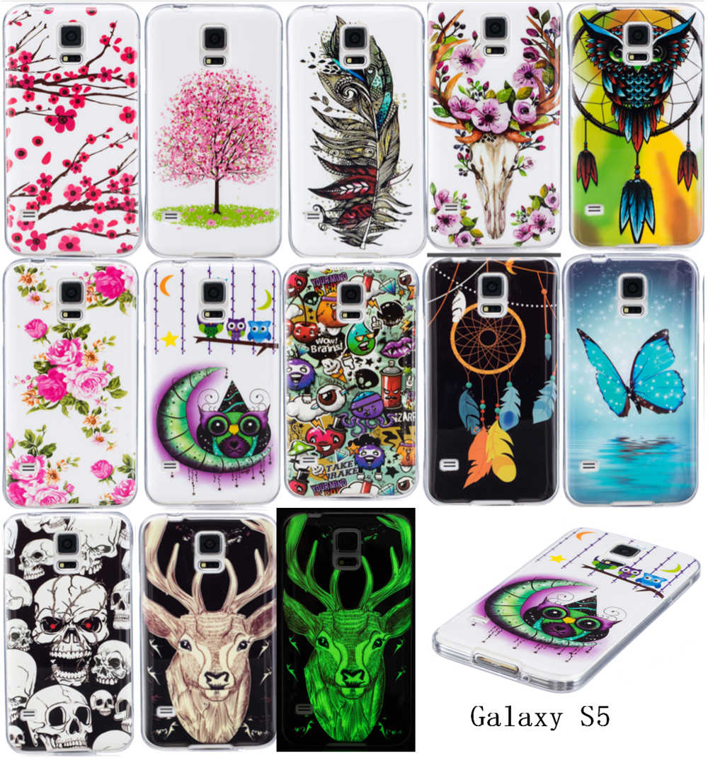 Galleria fotografica Luminous Cases For SAMSUNG Galaxy S5 S5Neo SM-G903F Duos SM-G903M/DS Soft TPU Silicon IMD Glossy Covers For Galaxy S5 Neo G903FD